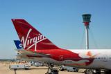 Tail of Virgin Atlantic 747 G-VFAB Lady Penelope