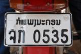 Lao motorbike license plate