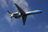 Bangkok Air B717 HS-PGP on final approach to 17 at Koh Samui