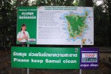 Map with tourist sites on Koh Samui