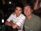 Me and Jeng out at the Star Club, Koh Samui