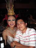 Jeng and a ladyboy at the Star Club