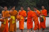Young novice monks, Luang Prabang