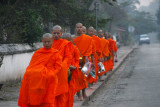 Luang Prabang Monks Collecting Alms