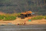 Small plots of farmland along the Mekong River