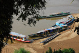 Riverboats beached along the Mekong, Luang Prabang