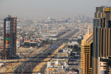Sheikh Zayed Road looking towards Dubai Marina, Mall of the Emirates, from the top of U.P. Tower