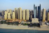 JBR with the Ritz Carlton on the beach to the left, Dubai Marina