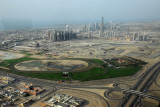 Godolphin equestrian center and skycrapers of Sheikh Zayed Road