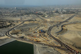 Road construction for the access roads to the new Ras Al Khor Bridge (Business Bay Crossing)