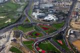 Roadways on the Deira side of the Garhoud Bridge
