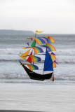 Kite in the shape of a sailing ship, Bali