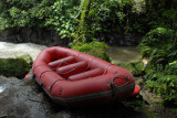 The starting point of the Ayung River rafting trip down 9 km of class 2 whitewater