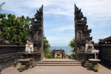The main gate to the temple at Tanah Lot