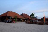 One of the dozens of seafood restaurants (warung) along Jimbaren Beach