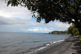 The rocky volcanic beach at Tulamben, northeast Bali, more for scuba divers than sunbathers