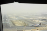Landing at Dubai on a (common) hazy day
