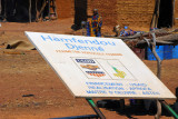 Fallen sign for Hamfendou Djenné - Perimetre Horticole Feminin, a USAID project
