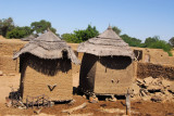 Thatched roof granaries, Mali