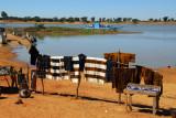 Vendors set up shop near the Djenné ferry landing