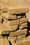 The raw material for Djenné - mudbricks