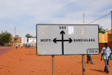 Major intersection in Sévaré where the Bamako-Gao road crosses the road from Mopti to Bangiagara in Dogon Country