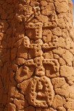 Decoration on a Dogon house in Songho