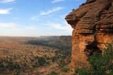 The edge of the Dogon Plateau, the Bandiagara Escarpment, Mali