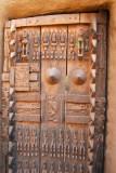Ornately carved Dogon door, Mali