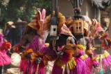 Dogon mask dancers, Tereli, Mali