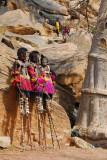 Dogon stilt dancers resting