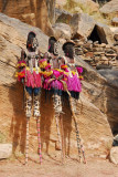 Dogon stilt dancers awaiting their entry