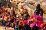 Dogon dancers resting after the performance