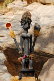 The figure on top of the Dogon Satimbe mask