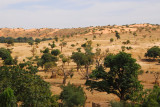 Sandy plains at the base of the Bandiagara Escarpment, Mali