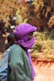 Man in purple turban, Mopti