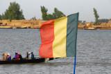 Flag of Mali and the Niger River, Mopti