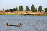 The fishing village on the opposite bank of the Niger River from Mopti