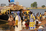 Busy Mopti riverfront