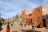 The main street of the Komoguel district, Mopti