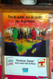 Drug ad with herd of cattle on a map of Africa