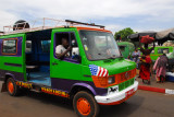 American flag on a Bamako minibus taxi