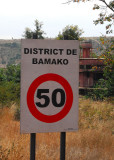 Entering the District of Bamako, captial city of Mali