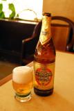 A cold Castle Beer at Le Byblos, Bamako