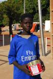 A Fly Emirates boy begging, Bamako