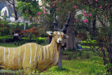 Since they've shot all the wildlife, you have to settle for painted sculpture