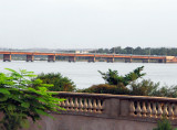 Our first view of the Niger River, Pont des Martyrs, Bamako, Mali