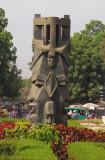 Statue resembling African masks, Bamako