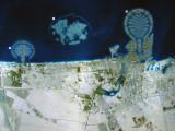 Nakheel map of the Palm Jumeirah, The World and Palm Deira