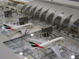 Model of the new Terminal 3 at Dubai International Airport